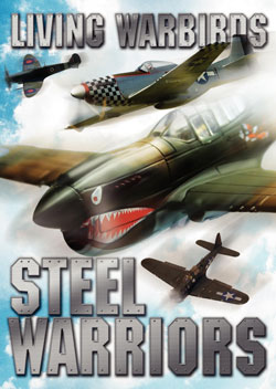 Living Warbirds: Steel Warriors DVD - Warbirds DVD, P-51 Mustang, P-40 Warhawk, CJ6A, F4U Corsair, Spitfire, Warbirds Video, Aircraft Video, Airplane Video, Plane Video, Airplane DVD, Planes DVD