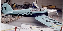 Aircraft Picture - D.2 Gull Four (G-ACGR) displayed in the Brussels Museum in prewar colours and racing number. It has the early long canopy.