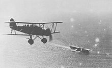 Aircraft Picture - A Type 96 flies near the aircraft carrier Kaga off China in 1937 or 1938.