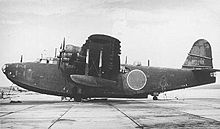 Aircraft Picture - A Kawanishi H8K Flying Boat ashore.