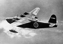 Aircraft Picture - An H8K in flight, before being shot down by a U.S. Navy PB4Y-1, 2 July 1944.
