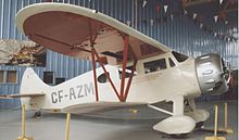 Aircraft Picture - Waco EQC-6 Custom at the Calgary Aerospace Museum in 1996 showing the longer cabin glazing of late C series aircraft