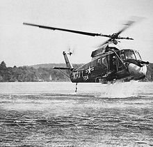 Aircraft Picture - A YUH-2A during ditching trials, 1963.