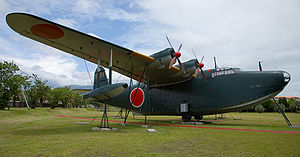 Airplane Picture - Kawanishi H8K2 at Kanoya museum, Japan