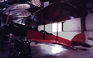 Airplane Picture - Waco 9 of 1925 exhibited at the NASM storage facility at Silver Hill, Maryland, in June 1982