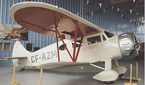 Airplane Picture - Waco EQC-6 Custom at the Calgary Aerospace Museum in 1996 showing the longer cabin glazing of late C series aircraft