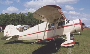 Airplane Picture - Waco YKS-6 of 1936 at Sun n'Fun, Lakeland, Florida, in April 2009