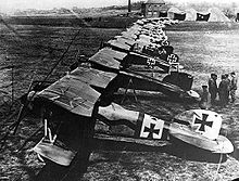 Airplane Picture - Albatros D.III fighters of Jasta 11 at Douai, France