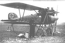 Airplane Picture - Ernst Udet in front of his Albatros D.III (serial D.1941/16)