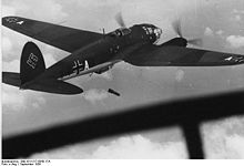 Airplane Picture - He 111P dropping bombs over Poland, September 1939