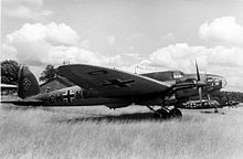 Airplane Picture - A He 111E in Luftwaffe service, 1940. The early variants had a conventional, stepped cockpit.