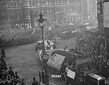 Airplane Picture - A captured Albatros D.III paraded through London, November 1918