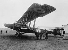 Airplane Picture - A Handley Page O/100 of the Royal Naval Air Service, 1918