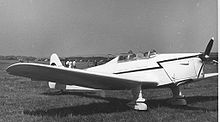 Airplane Picture - Hawk Trainer Coupe G-AJRT at Leeds (Yeadon) Airport in May 1955