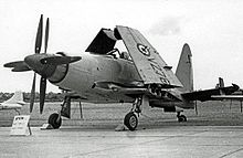 Airplane Picture - Wyvern S.4 strike aircraft of 813 Naval Air Squadron at RNAS Stretton in 1955