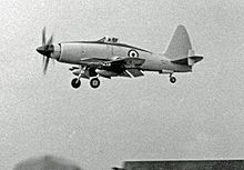 Airplane Picture - Wyvern TF.2 being demonstrated at the Farnborough Air Show in 1953 by a Westland pilot