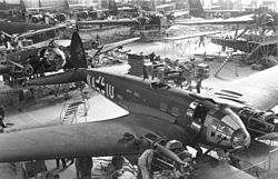 Airplane Picture - He 111 production in 1939