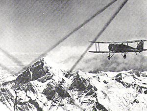 Warbird Picture - Lord Clydesdale piloting the first flight over the summit of Mount Everest 1933