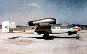 Warbird Picture - He 162 during post-war trials, USA.