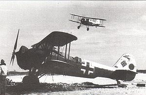 Warbird Picture - A Heinkel He 50 of a night ground-attack unit on the Eastern Front.