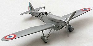 Warbird Picture - A scale model of D.510 in French Air Force markings.