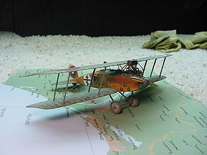 Warbird Picture - 1/72 scale model of an Albatros C.XV of the Russian Civil War by Buz Pezold