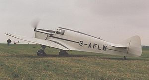 Warbird Picture - Miles M.17 Monarch operational at Wroughton, Wiltshire, in July 1992