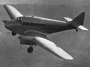 Warbird Picture - Miles Peregrine in flight with retractable undercarriage lowered. Flight- January 21, 1937.