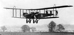 Warbird Picture - Handley Page O/400 lands at RAF Andover, 1918