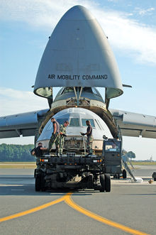 Airplane Picture - The flight deck from the C-5B crash at Dover AFB in April 2006 being loaded into another C-5