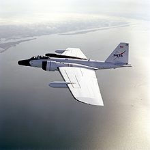 Airplane Picture - A WB-57F flies over the Gulf of Mexico near its base at NASA JSC.