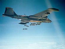 Airplane Picture - USAF B-57 dropping 750 lb (340 kg) bombs