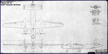 Airplane Picture - Schematic blueprint drawing of the XB-33.