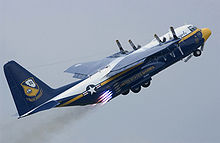 Airplane Picture - USMC C-130T Fat Albert performing a JATO takeoff