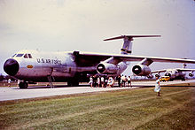 Airplane Picture - Early C-141As of 436th Airlift Wing, MAC, at Brisbane Airport, Australia supporting the visit of President Lyndon B. Johnson, 22 October 1966.