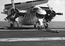Airplane Picture - C-1A onboard USS Coral Sea