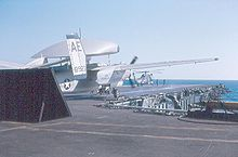 Airplane Picture - E-1B of VAW-121 Det. 42 on the USS Franklin D. Roosevelt in 1970