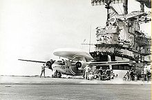 Airplane Picture - VAW-111 Tracer on the USS Bon Homme Richard