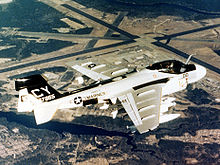 Airplane Picture - A Marine EA-6A Intruder over Cherry Point, 1978. The two-seat EA-6A would be followed by the more advanced four-seat EA-6B Prowler.