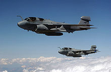 Airplane Picture - Two EA-6B Prowlers over Turkey flying in support of Operation Northern Watch, 2002.