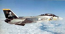 Airplane Picture - An F-14A of VF-84 Jolly Rogers, in a 1970s color scheme