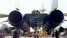 Airplane Picture - F-14's large flat area between the engine nacelles is called the