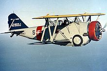 Airplane Picture - The U.S. Navy Grumman FF-1 N2803J in flight.