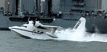 Airplane Picture - Chalk's International Airlines Albatross arriving in Miami Harbor from Nassau, Bahamas, in 1987
