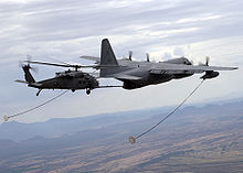Airplane Picture - USAF HC-130P refuels a HH-60G Pavehawk helicopter