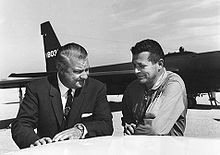 Airplane Picture - Kelly Johnson and Gary Powers in front of a U-2