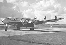 Airplane Picture - TWA L-749A Constellation at Heathrow in 1954 with an under fuselage