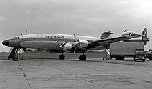 Airplane Picture - L-1049H freighter of Nordair Canada at Manchester Airport in 1966