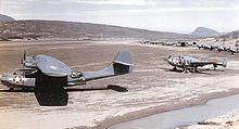Airplane Picture - PBY-5As and PV-1s of VPB-135 on an Aleutian airfield in 1943