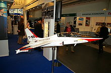 Airplane Picture - A display model of the T-50 Golden Eagle in 2007
